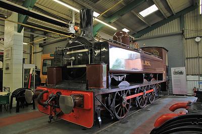 "K 2509/1883 ""A No.5"" (Ex-Consett Iron Co, NCB Derwenthaugh) on display inside the Stephenson Railway museum - 01/06/13."