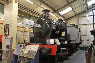 "RSHN 7683/1951 ""Ted Garratt JP,DL,MP 1920-1993"" (Ex-Meaford Power Station, Staffs) on display inside the Stephenson Railway museum - 01/06/13."