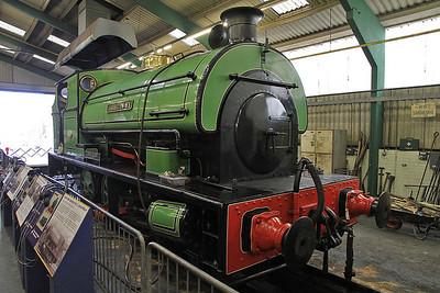 P 1979/1939 'Ashington No.5' (Ex-NCB Ashington, Northumberland) on display inside the Stephenson Railway museum - 01/06/13.