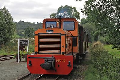 W&L No.17 (Diema 4270/1979, Ex San-hua Sugar Works Railway, Taiwan, no.175), Cyfronydd, P6 10.00 Welshpool-Llanfair Caereinion  - 31/08/13.