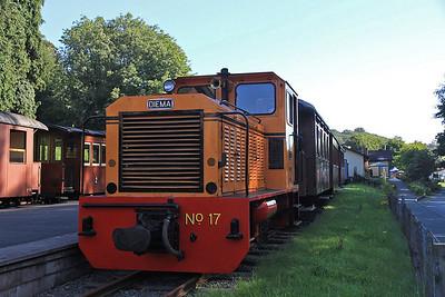 W&L No.17 (Diema 4270/1979, Ex San-hua Sugar Works Railway, Taiwan, no.175), Welshpool Raven Square, P6 10.00 to Llanfair Caereinion  - 31/08/13.