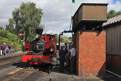 W&L No.12 'Joan' (KS 4404/1927), Llanfair Caereinion, having just been watered  - 31/08/13.