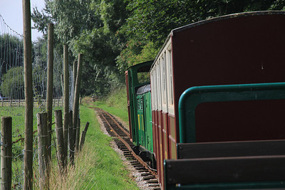 'Dudley' (G&SLE 1957), en route on the 12.00 Windmill Farm-Lakeview  - 25/08/13.