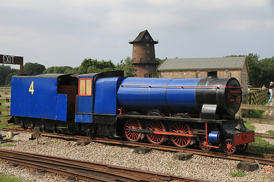 'Blue Pacific' (N Guinness 1935), on display at Windmill Farm  - 25/08/13.