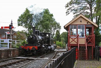 376 running round at Tenterden - 23/08/14.