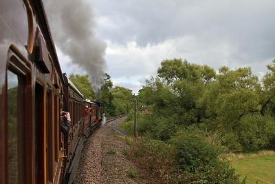 376 leaving Northiam, 13.10 Bodiam-Tenterden - 23/08/14.