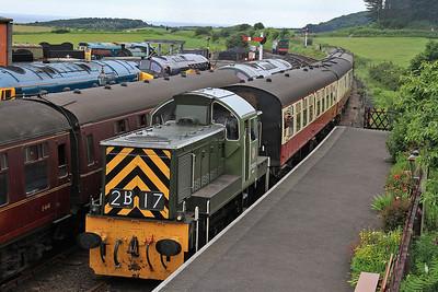 D9531 arrives Weybourne, 1M06 09.26 Sheringham-Holt - 14/06/14.