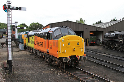 37219 in new Colas livery, Weybourne - 14/06/14.