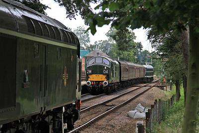 D6732 (37032) arrives at Holt, 2M04 08.42 ex Sheringham - 14/06/14.