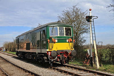 E6003 (73003) running round at Blunsdon - 15/03/14.