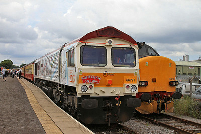 66721, Leeming Bar, on rear of 11.40 to Redmire - 20/07/14.