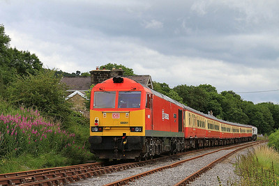 60091, Redmire, on rear of 13.05 to Leeming Bar - 20/07/14.