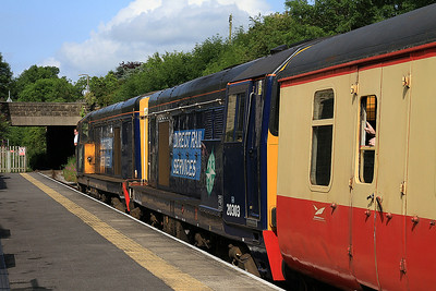 20305 + 20303 arr Leyburn, 09.15 Leeming Bar-Redmire - 20/07/14.