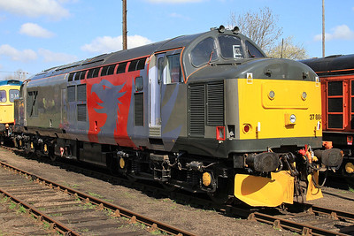 37884 gleams in the yard in its new Europhoenix livery - 18/04/15.