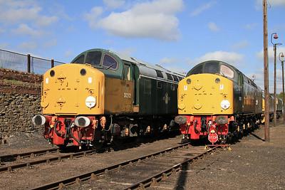 40012 & 40013 on display in the yard - 18/04/15.