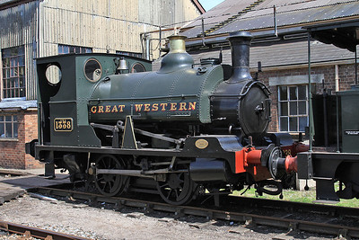 1338 on display outside the shed - 22/08/15.