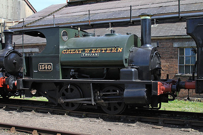 1340 on display outside the shed - 22/08/15.