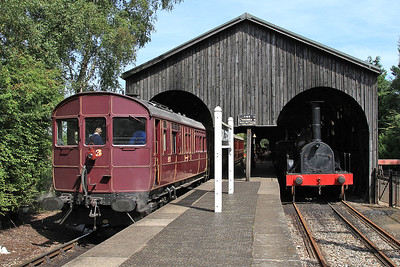 Steam Railmotor 93, 'Burlescombe' station - 22/08/15.