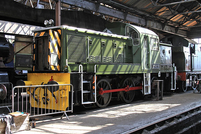 D9516 on display inside the shed - 22/08/15.