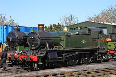 4141 stabled in the yard at North Weald ready for the forthcoming steam gala - 18/04/15.