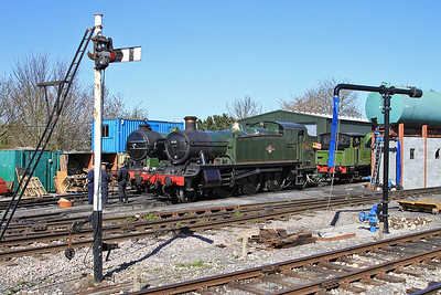 1744 / 4141 / 69023 stabled in the yard at North Weald ready for the forthcoming steam gala - 18/04/15.