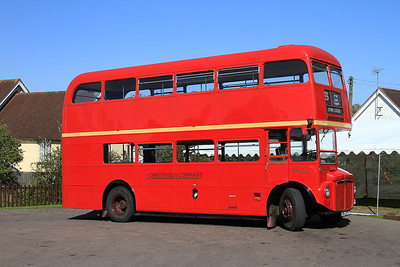 London Bus Companys' AEC Routemaster RM1966 (ALD966B, ex-LT), North Weald, employed on shuttles to Epping - 18/04/15.
