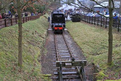 34092, running round at Oxenhope - 28/02/15.