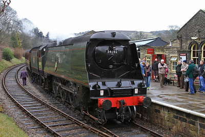 34092, Oxenhope, 15.10 ex Keighley - 28/02/15.
