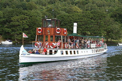 M.V Tern arrives at Lakeside, 15.15 ex Ambleside - 15/07/15.