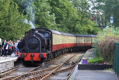 WB 2682/1942 'Princess', Lakeside, 16.15 ex Haverthwaite - 15/07/15.