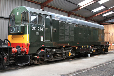 20214 in the shed at Haverthwaite - 15/07/15.