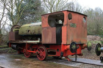 HC 750/1906 (Ex NCB Kiveton Park) awaiting restoration in the standard gauge sidings - 28/03/15.
