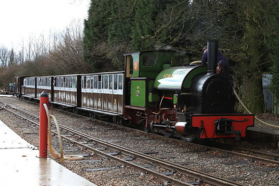 No.2 'Howard' (HE 1842/1936, ex British Aluminium, Fort William - was an 0-4-2ST) being watered at Oak Tree Halt - 28/03/15.