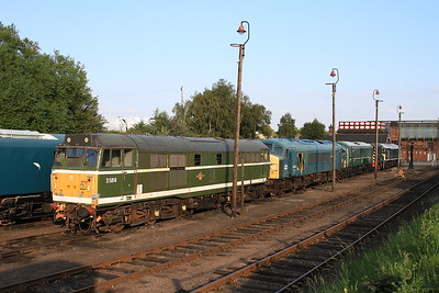 D5814, 45060, 71001, D4092, 24054 in the yard at Barrow Hill - 17/08/16.