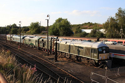 24054, D4092, 71001, 45060 & D5814 in the yard at Barrow Hill - 17/08/16.