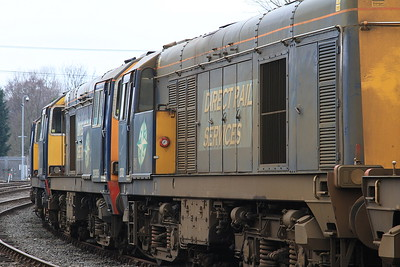 20302, 309, 308, 304 & 312 stored in the yard at Barrow Hill - 27/02/16.