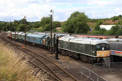 24054 heads a line of stored / preserved locos in the yard at Barrow Hill - 07/07/16.