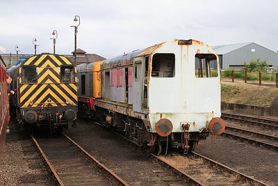 The stripped shell of 20092 in the yard at Barrow Hill - 07/07/16.
