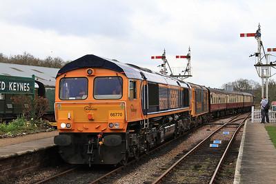 66770 / 73119 arr Horsted Keynes, 09.45 Sheffield Park-East Grinstead - 16/04/16.