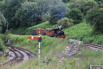 30587 arr Norchard, 15.05 Lydney Jctn.-Parkend freight - 03/07/16.