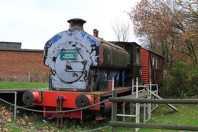 AE 2004/1927 (ex- NCB, Snowdown Colliery, Kent), awaiting restoration at Shepherds Well - 26/11/16.
