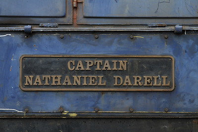 08484's nameplate ..... hence the 'Kylie's Captain' name for the charters ..... Locomotion ... etc - 24/01/16.