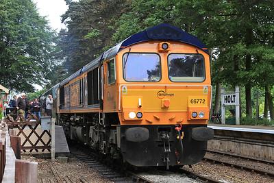 66772 + 37032, Holt, 2M10 10.30 ex Sheringham - 11/06/16.