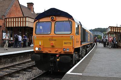 66772 + 37032, Weybourne, 2M10 10.30 Sheringham-Holt - 11/06/16.