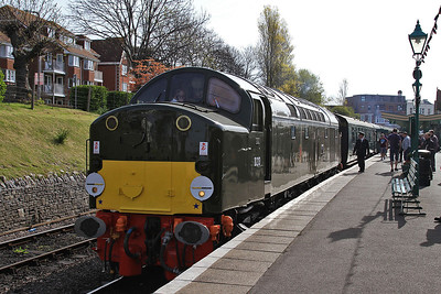 40013, Swanage, 2N04 09.15 to Norden (first passenger working for over 31 years !) - 06/05/16.