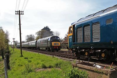 50035, Corfe Castle, 2N03 10.00 Norden-Swanage ...... D832 arrives on 1N02 09.46 Swanage-Norden - 06/05/16.