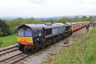 66305 (37059 rear), Redmire, 11.05 to Leeming Bar - 28/05/16.