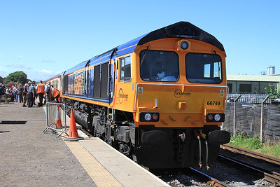 66749, Leeming Bar, on rear of 2D05 11.25 to Redmire - 16/07/16.