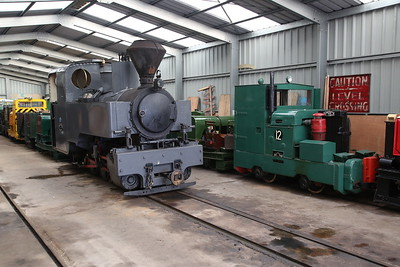 KS 3014/1916 (ex-France) and Motor Rail No.12, inside Apedale loco shed - 28/10/17