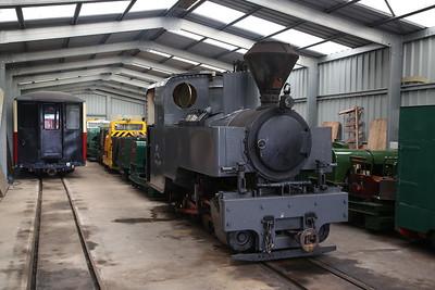 KS 3014/1916 (ex-France), inside Apedale loco shed - 28/10/17